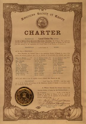 American Society of Equity Charter - 1917